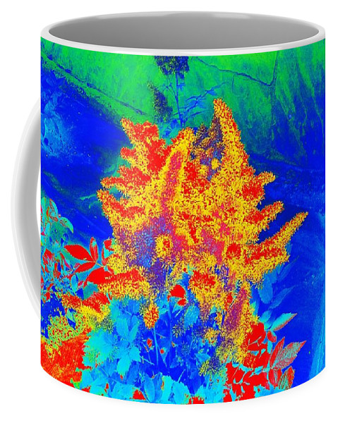 Floral Coffee Mug featuring the digital art Infared by Steven Wills