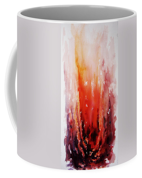 Landscape Coffee Mug featuring the painting Inferno by Rachel Christine Nowicki