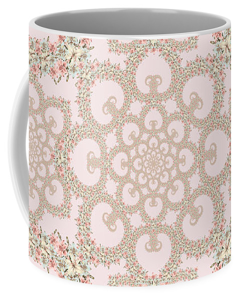 Floral Coffee Mug featuring the tapestry - textile Infinite Lily In Pastels by Deborah Runham