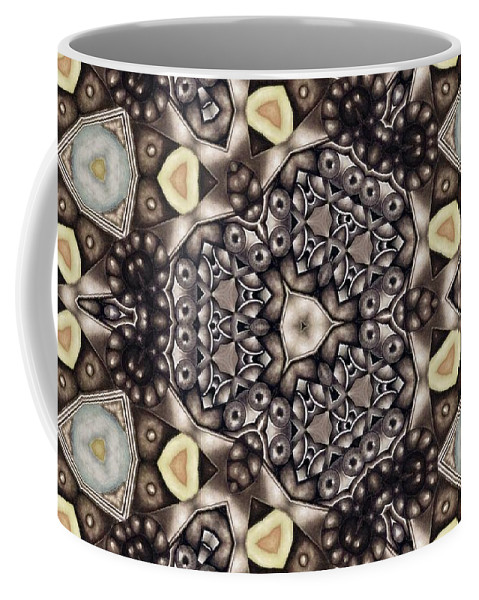 Kaleidoscope Coffee Mug featuring the mixed media Infinite Torus by Laurie's Intuitive