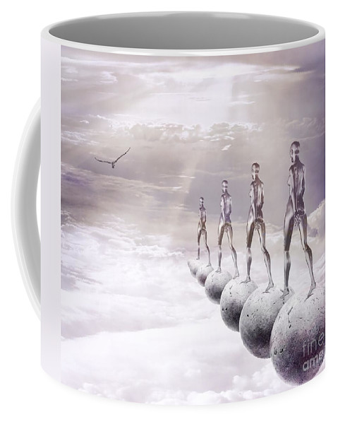 Surreal Coffee Mug featuring the digital art Infinity by Jacky Gerritsen