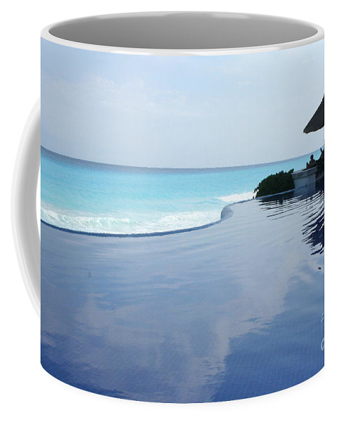 Infinity Coffee Mug featuring the photograph Infinity Pool by Thomas Marchessault