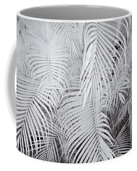 3scape Photos Coffee Mug featuring the photograph Infrared Palm Abstract by Adam Romanowicz