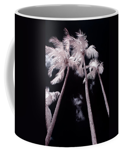 3scape Photos Coffee Mug featuring the photograph Infrared Palm Trees by Adam Romanowicz