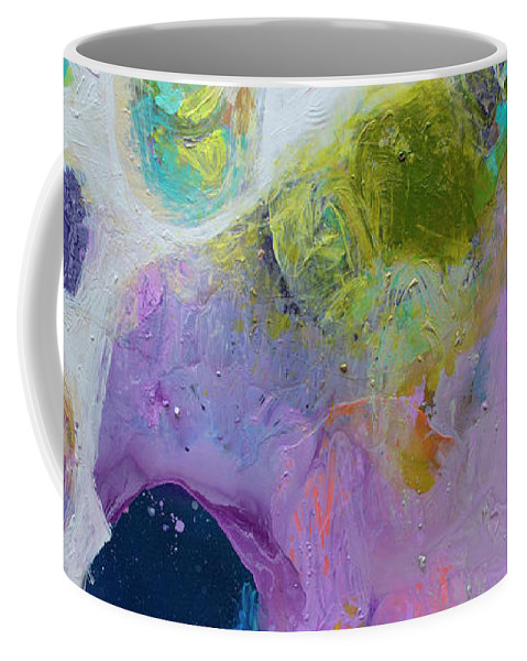 Abstract Coffee Mug featuring the painting Inherent by Claire Desjardins
