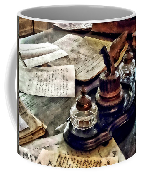 Ink Coffee Mug featuring the photograph Inkstand by Susan Savad