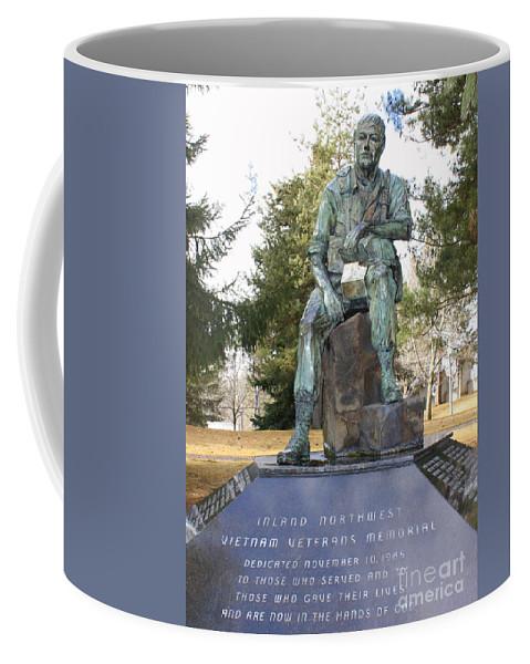 Vietnam Memorial Coffee Mug featuring the photograph Inland Northwest Vietnam Veterans Memorial by Carol Groenen