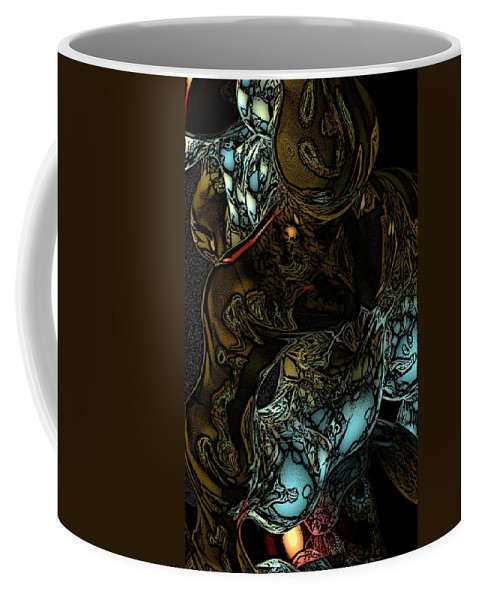 Abstract Coffee Mug featuring the digital art Inner Being by David Lane