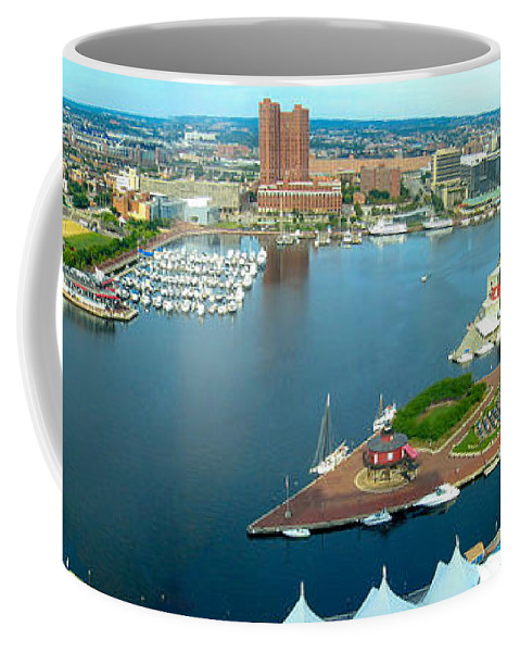 Baltimore Coffee Mug featuring the photograph Inner Harbor Baltimore Panorama by Thomas Marchessault