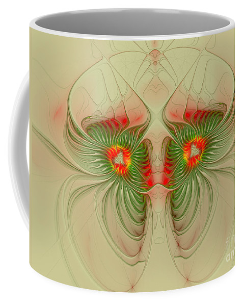 Digital Coffee Mug featuring the digital art Inner Vision by Deborah Benoit