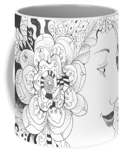 Life Coffee Mug featuring the drawing Innocence And Experience by Helena Tiainen