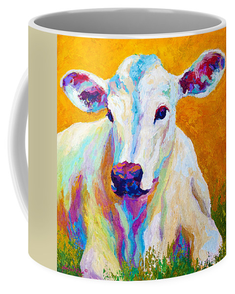 Cows Coffee Mug featuring the painting Innocence by Marion Rose