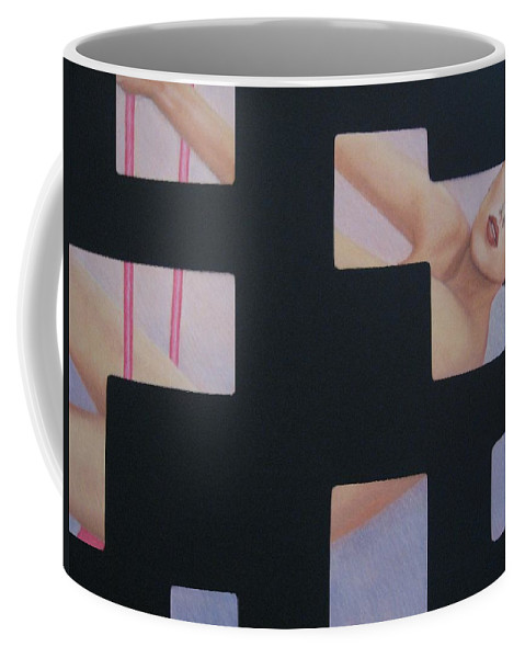 Woman Coffee Mug featuring the painting Innocent Flirtation by Lynet McDonald