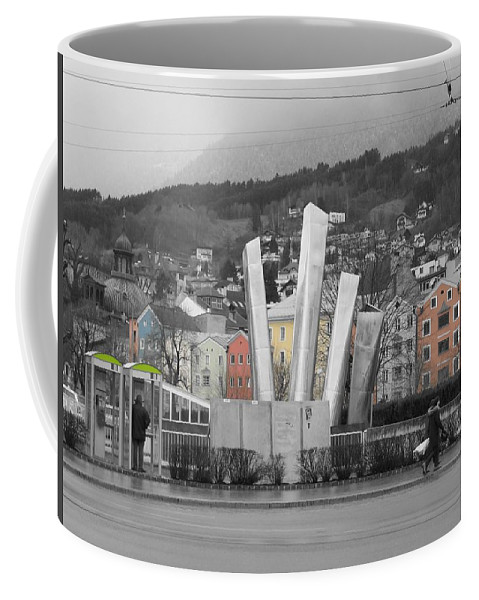 Abstract Coffee Mug featuring the photograph Innsbruck Art by Dylan Punke
