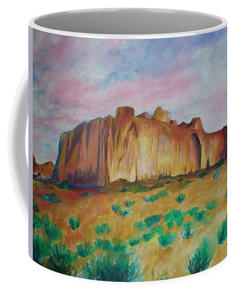 Western Landscapes Coffee Mug featuring the painting Inscription Rock by Eric Schiabor