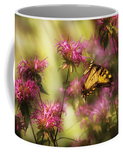 Savad Coffee Mug featuring the photograph Insect - Butterfly - Golden Age by Mike Savad