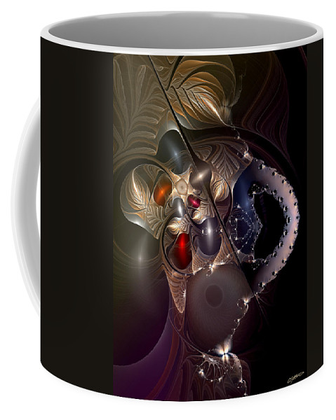 Abstract Coffee Mug featuring the digital art Insecurity Begets Fashion by Casey Kotas