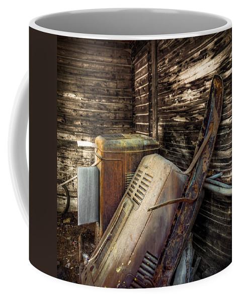 Barn Coffee Mug featuring the photograph Inside Barn by Wayne Sherriff
