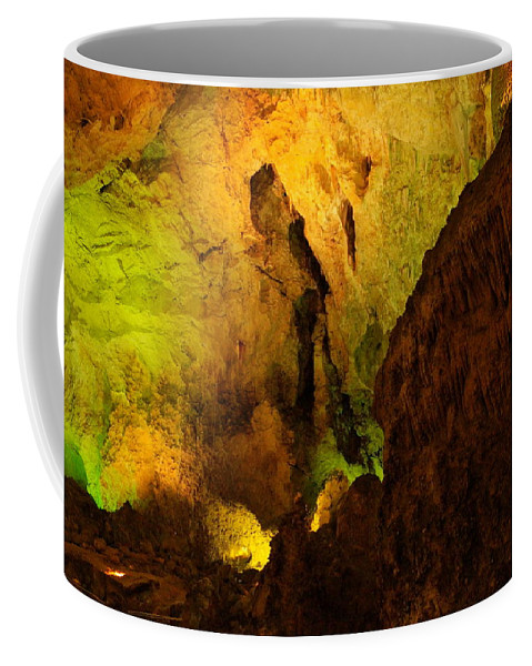 Caverns Coffee Mug featuring the photograph Inside Carlsbad by Jeff Swan
