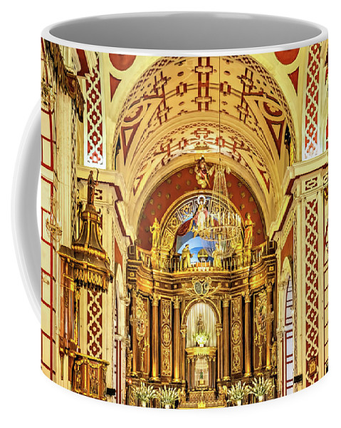Altar Coffee Mug featuring the photograph Inside The Basilica by Maria Coulson