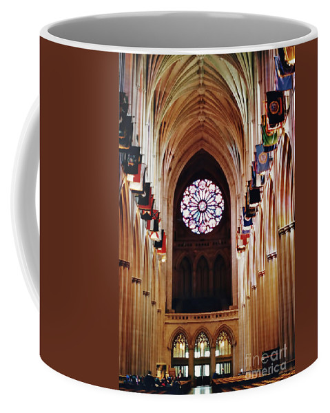 National Cathedral Coffee Mug featuring the photograph Inside The National Cathedral by D Hackett