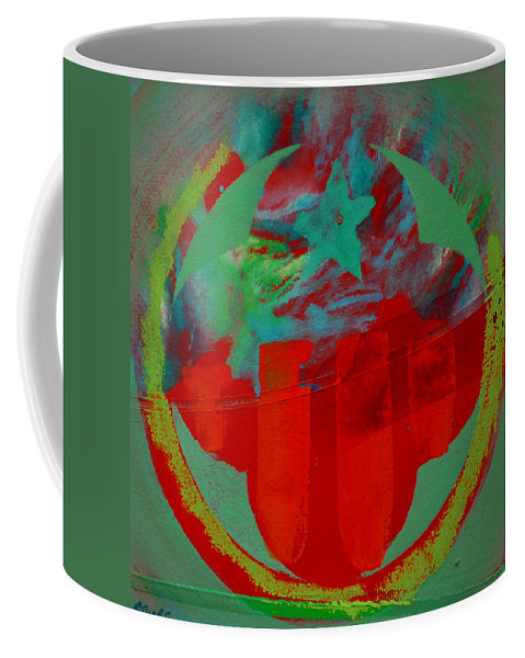 Usaaf Insignia Coffee Mug featuring the painting Insignia by Charles Stuart
