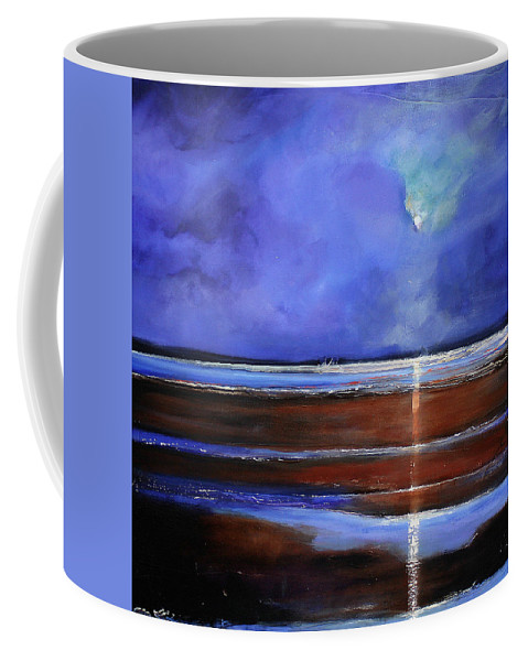 Beach Coffee Mug featuring the painting Inspiration Beach by Toni Grote