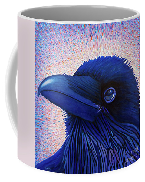 Raven Coffee Mug featuring the painting Inspiration by Brian Commerford