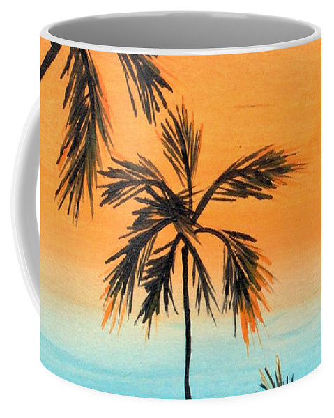 Palm Trees Coffee Mug featuring the painting Inspiration by Drica Lobo
