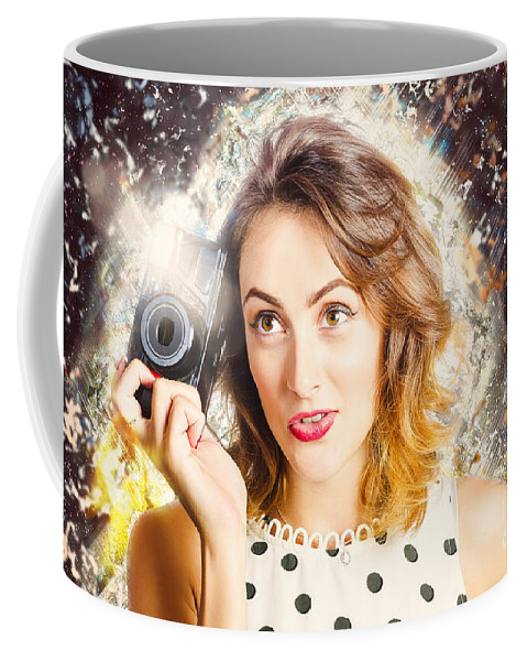 Photo Coffee Mug featuring the photograph Inspiration Of A Creative Pinup Photographer by Jorgo Photography - Wall Art Gallery