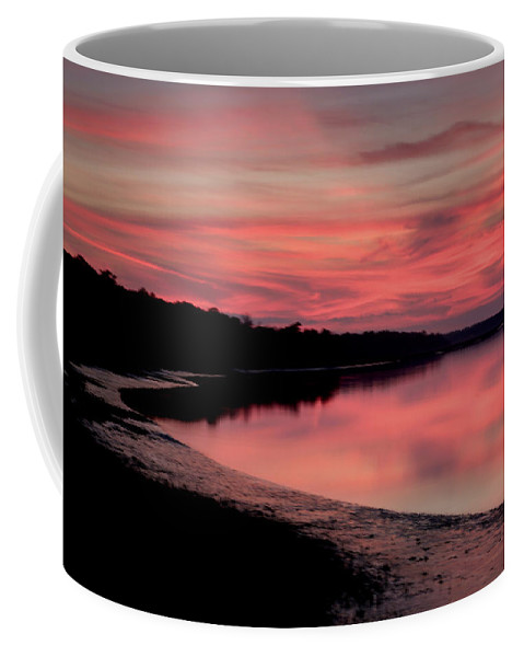 Sunset Coffee Mug featuring the photograph Intense Pink by Phill Doherty