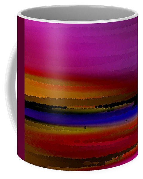Abstract Coffee Mug featuring the digital art Intensely Hued by Ruth Palmer