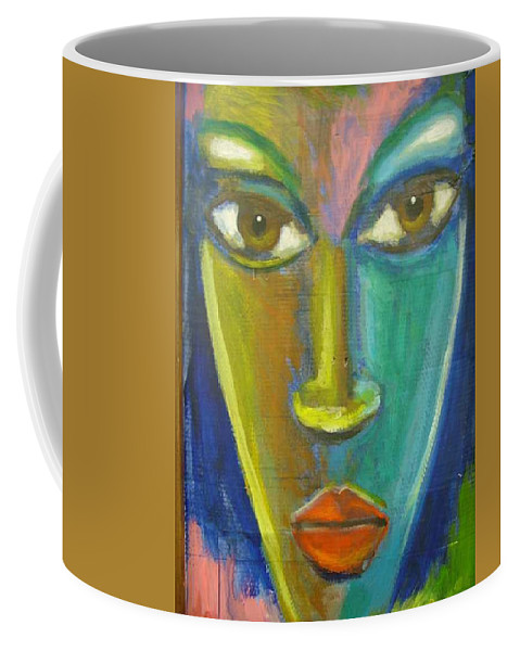 Painting Coffee Mug featuring the painting Intensity by Jan Gilmore
