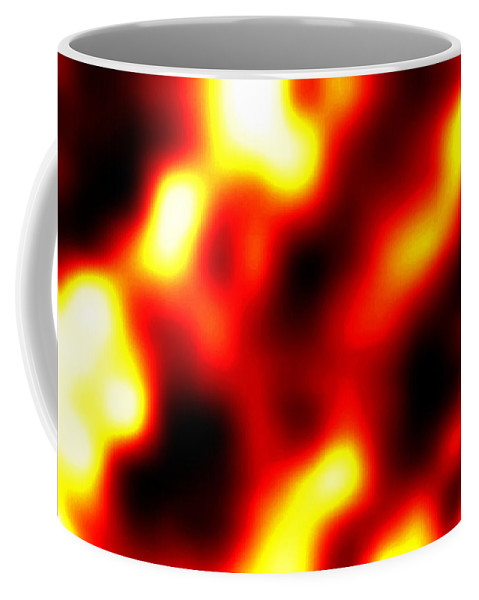 Abstract Coffee Mug featuring the digital art Intensity by Will Borden