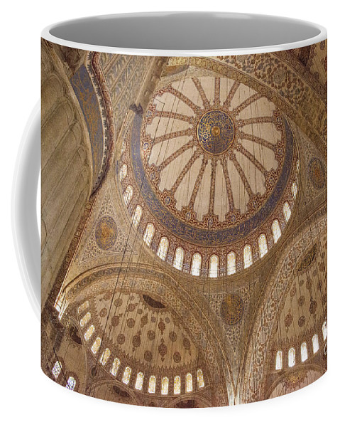 Sultanahmet Coffee Mug featuring the photograph Inter Domes Of Sultan Ahmed Mosque by Bob Phillips