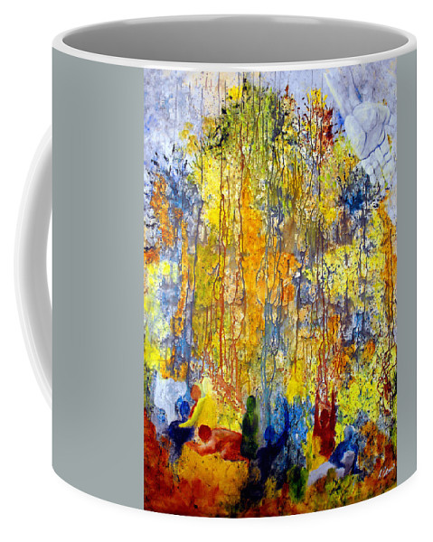 Abstract Coffee Mug featuring the painting Intercessory Prayers by Ruth Palmer
