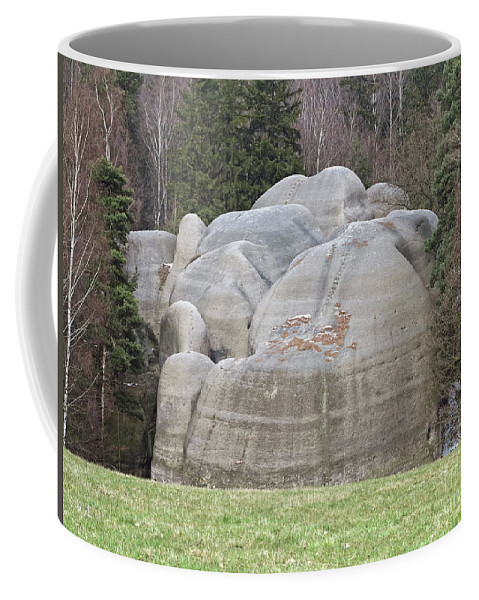 Rock Coffee Mug featuring the photograph Interesting Rock Formation - Elephant Rocks by Michal Boubin