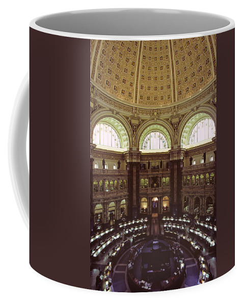 Elevated Views Coffee Mug featuring the photograph Interior Of The Library Of Congress by Kenneth Garrett