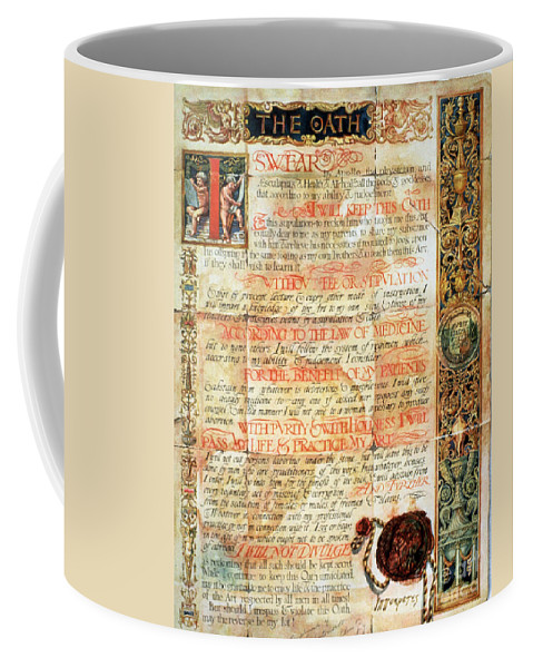 Science Coffee Mug featuring the photograph International Code Of Medical Ethics by Science Source