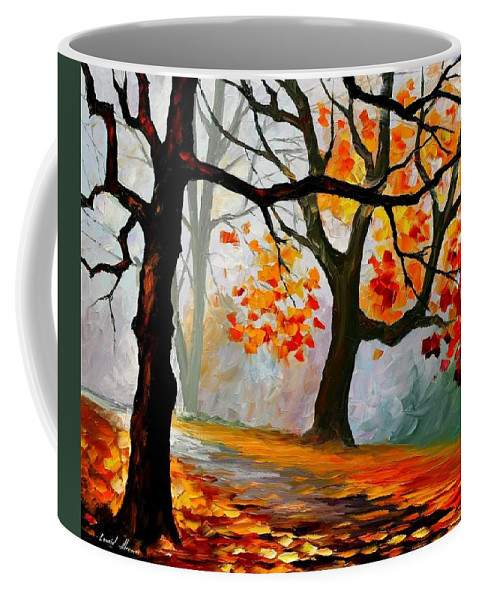 Landscape Coffee Mug featuring the painting Interplacement by Leonid Afremov