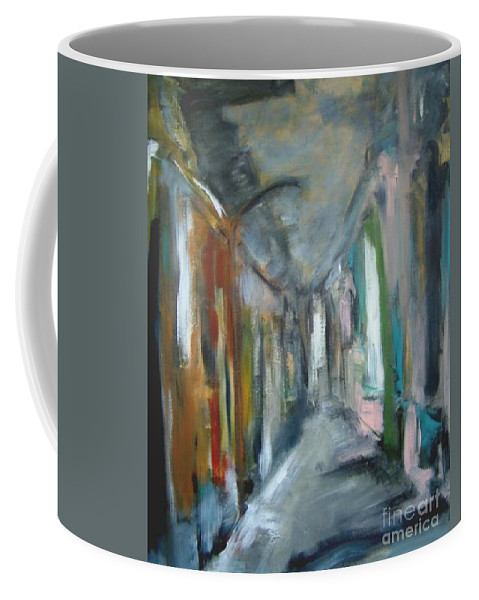 Home Coffee Mug featuring the painting Interpretation Of A Beautiful Day by Rome Matikonyte
