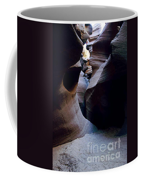 Slot Canyons Coffee Mug featuring the photograph Into The Depths by Kathy McClure