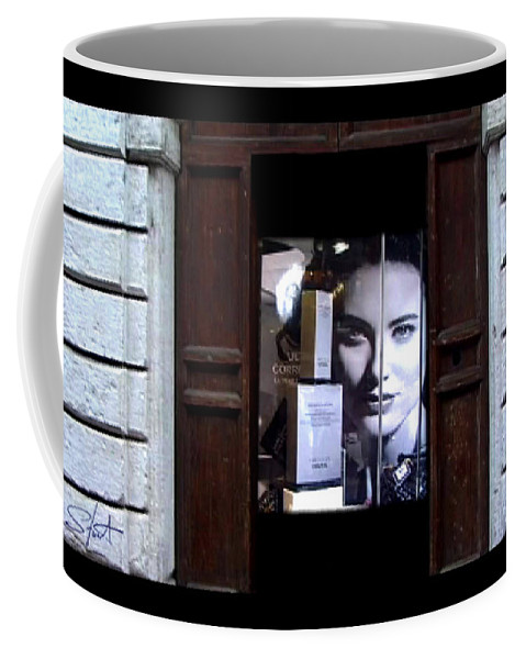 Dream Coffee Mug featuring the painting Into The Doorway by Charles Stuart