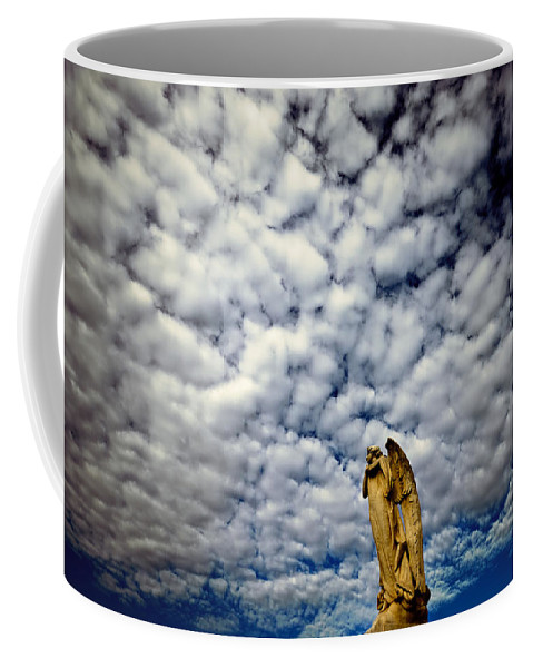 Angel Coffee Mug featuring the photograph Into The Firmanent by Wayne Sherriff