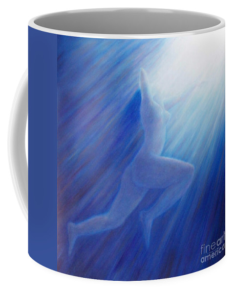 Spiritual Coffee Mug featuring the painting Into The Light by Brian Commerford