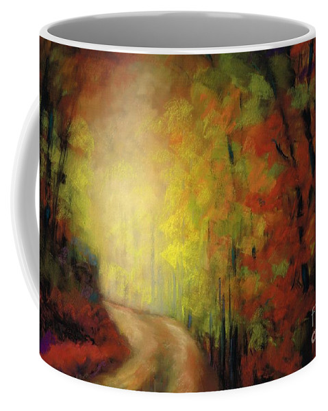 Landscape Coffee Mug featuring the painting Into The Light by Frances Marino