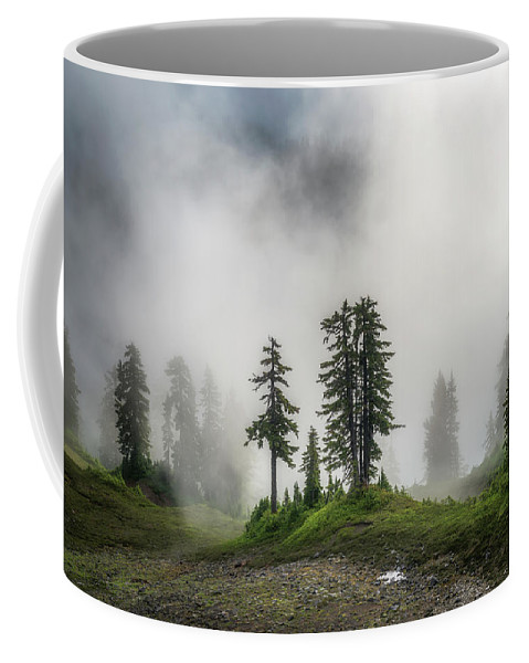 Fog Coffee Mug featuring the photograph Into The Myst by Ryan Manuel