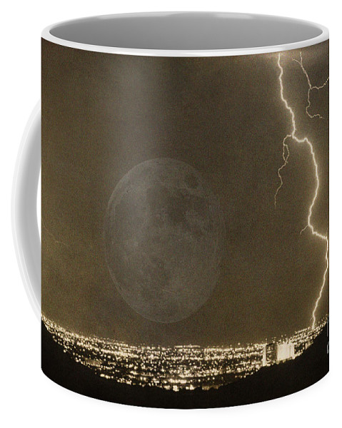 Lightning Coffee Mug featuring the photograph Into The Night by James BO Insogna