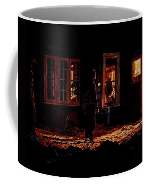 Night Coffee Mug featuring the painting Into The Night by Valerie Patterson
