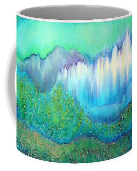 Blue Coffee Mug featuring the painting Into The Ocean by Shadia Derbyshire